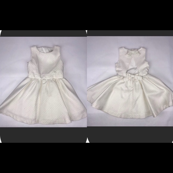 Max Studio Other - Max Studio Ivory W/ Gold Dots Bow Back Detail 3-4y